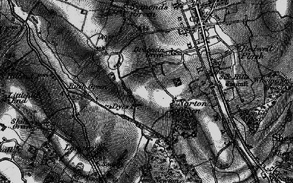 Old map of Norton Green in 1896