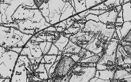 Old map of Norton in Hales in 1897