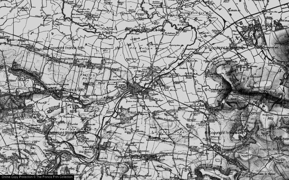 Old Map of Norton-on-Derwent, 1898 in 1898