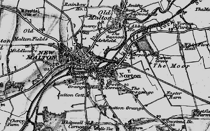 Old map of Norton-on-Derwent in 1898