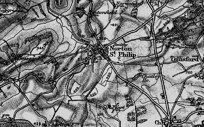 Old map of Norton St Philip in 1898