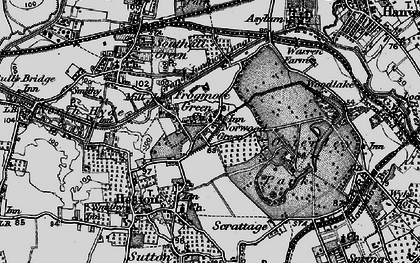 Old map of Norwood Green in 1896