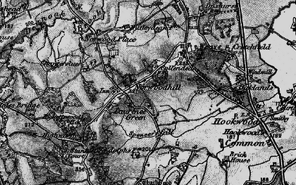 Old map of Wrays in 1896