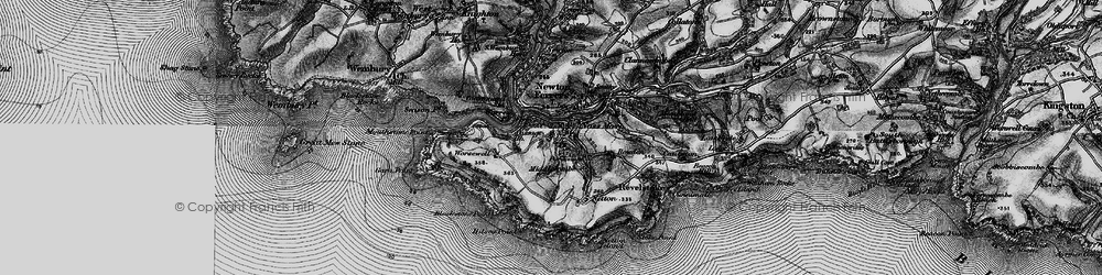 Old map of Worswell Barton in 1897