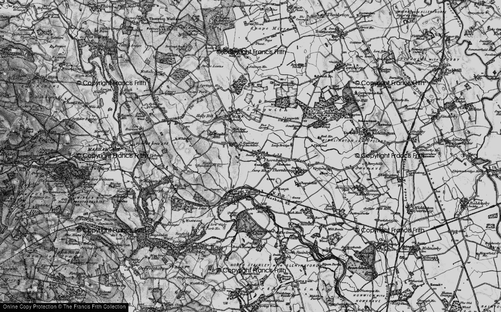 Old Map of Historic Map covering Langwith Ho in 1897