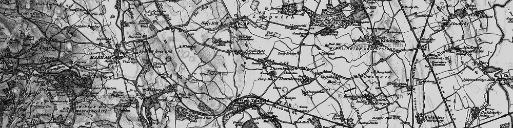 Old map of Langwith Ho in 1897