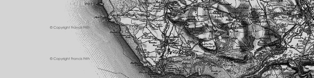 Old map of Nottage in 1897