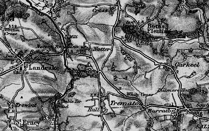 Old map of Notter in 1896