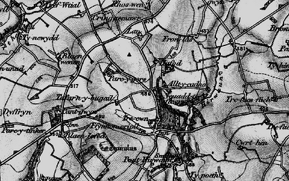 Old map of Allt-y-cadno in 1898