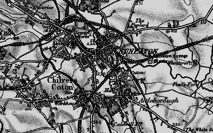 Old map of Nuneaton in 1899