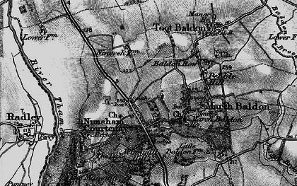Old map of Nuneham Courtenay in 1895