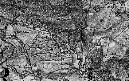 Old map of Wingates in 1897
