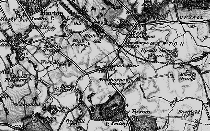 Old map of Nunthorpe in 1898