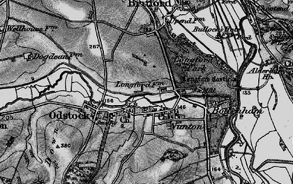 Old map of Nunton in 1895