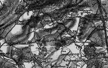 Old map of Nup End in 1896