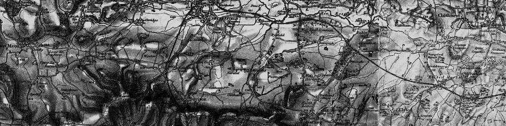 Old map of Westons in 1895