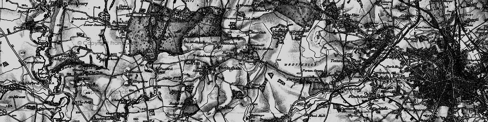 Old map of Worttesley Old Park in 1899