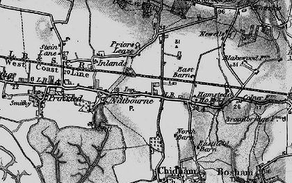 Old map of Nutbourne in 1895