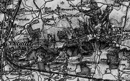 Old map of Nutfield in 1895