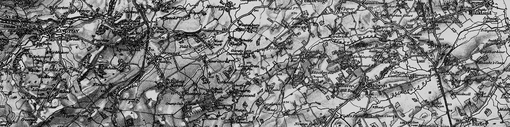 Old map of Tibhall in 1899