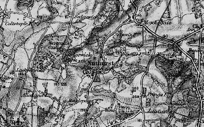 Old map of Nuthurst in 1895
