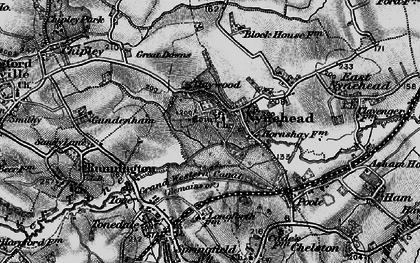Old map of Nynehead in 1898