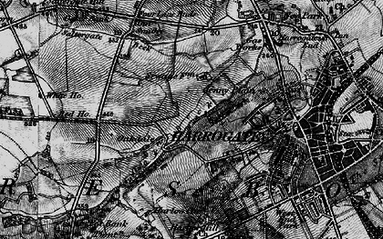 Old map of Bardner Wood in 1898
