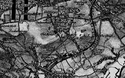 Old map of Oakenshaw in 1898