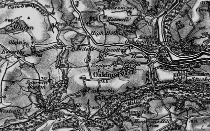 Old map of West Tapps in 1898
