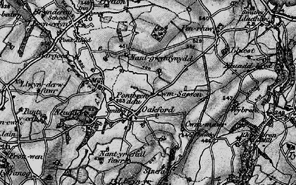 Old map of Oakford in 1898