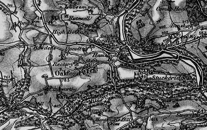 Old map of Wonham Ho in 1898