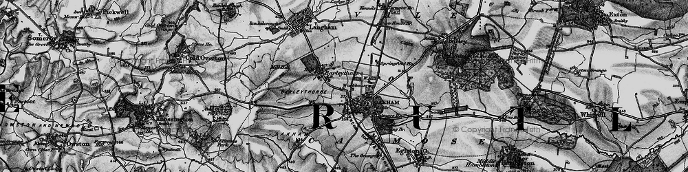 Old map of Oakham in 1899