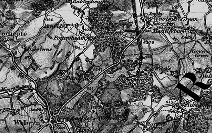 Old map of Oaklands in 1896