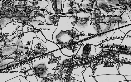 Old map of Ley Court in 1896