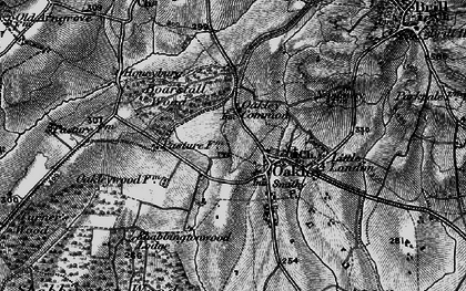 Old map of Oakley in 1895