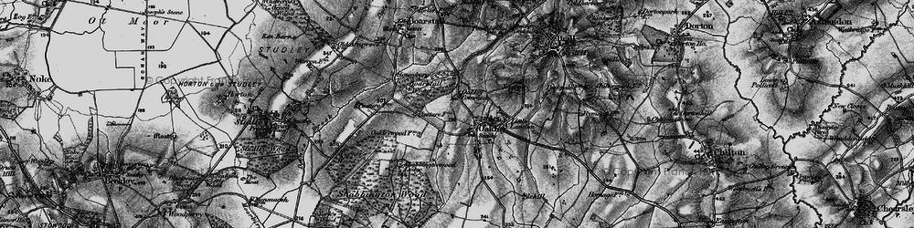 Old map of Oakley in 1895