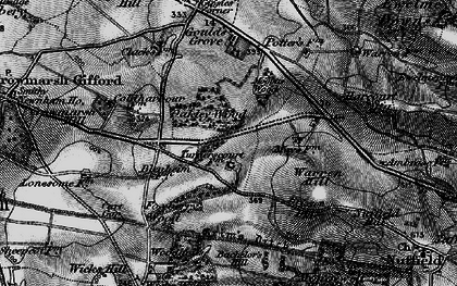 Old map of Wicks Wood in 1895