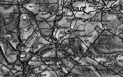 Old map of Ash, The in 1897
