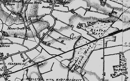 Old map of Oakwood in 1896