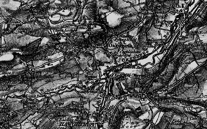Old map of Oakworth in 1898