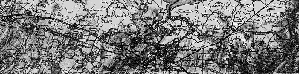 Old map of Oare in 1895
