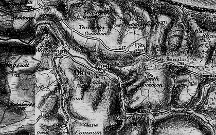 Old map of Yellow Stone in 1898
