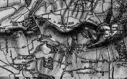 Old map of Oare in 1898
