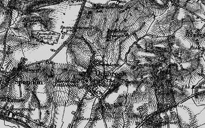 Old map of Ockbrook in 1895