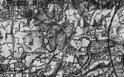 Old map of Ockley in 1896