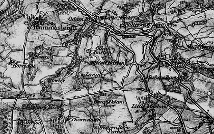 Old map of Langley in 1898