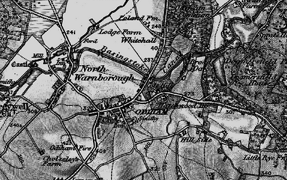 Old map of Odiham in 1895