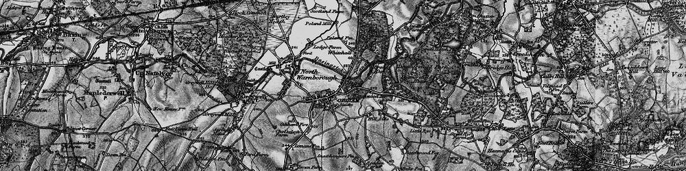 Old map of Odiham in 1895