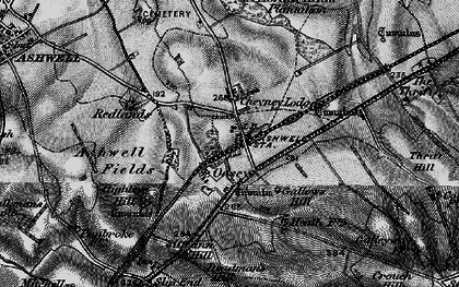 Old map of Ashwell & Morden Sta in 1896
