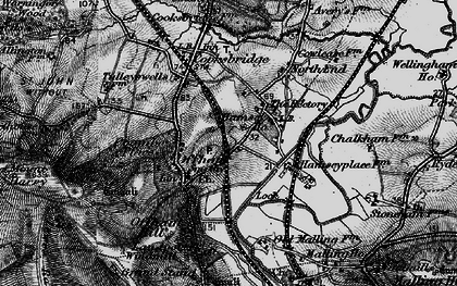 Old map of Offham in 1895